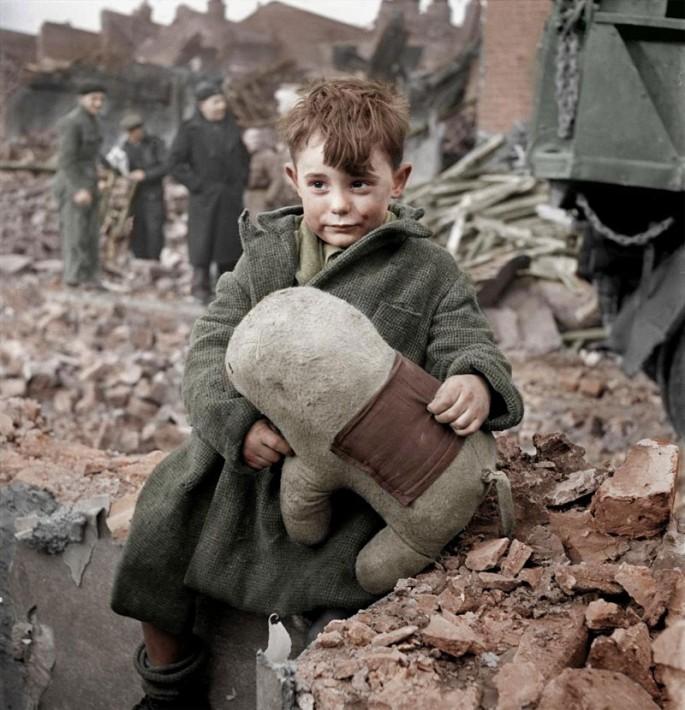 BOY IN LONDON, ca. 1945